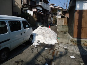 DSC00624箱根強羅街中雪